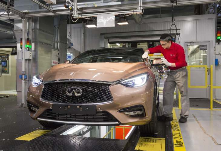New Infiniti Q30 UK production begins