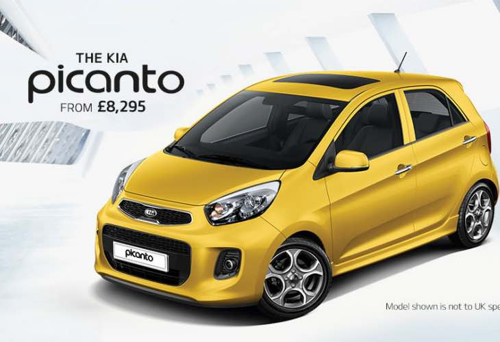 New Kia Picanto entry-level starting price