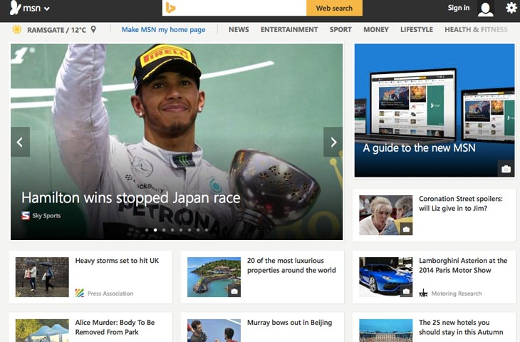 New-MSN-homepage-redesign