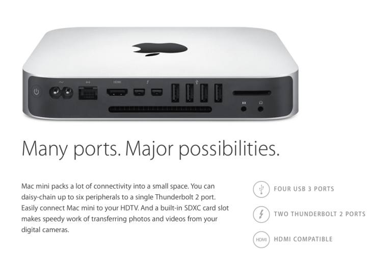 New Mac Mini update specs