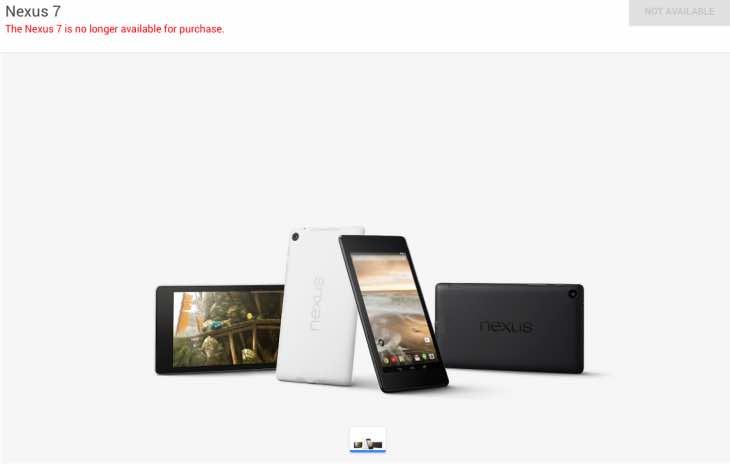 New Nexus tablet needed following hole in range
