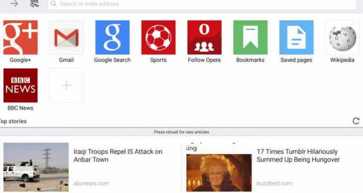 New Opera Mini browser improvements list