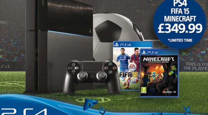 New PS4 bundle price with Minecraft, FIFA 15