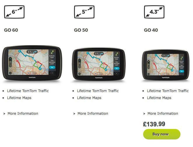 New TomTom GPS models