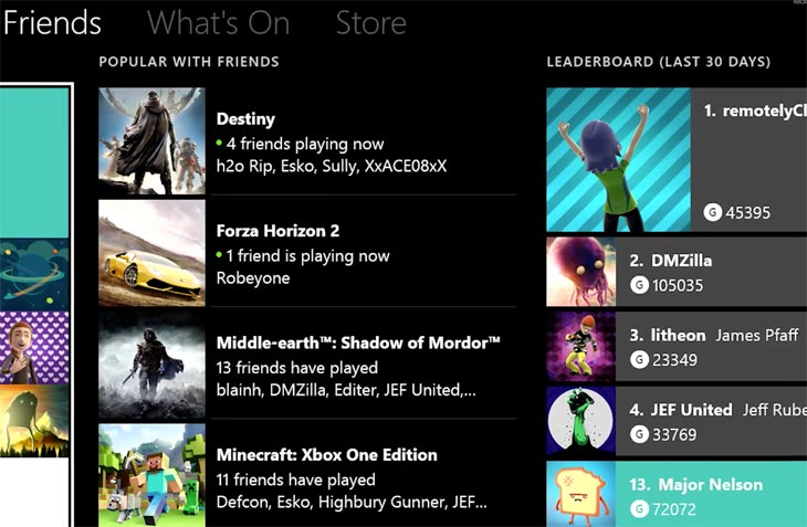 new xbox one friends list after won�t load problems