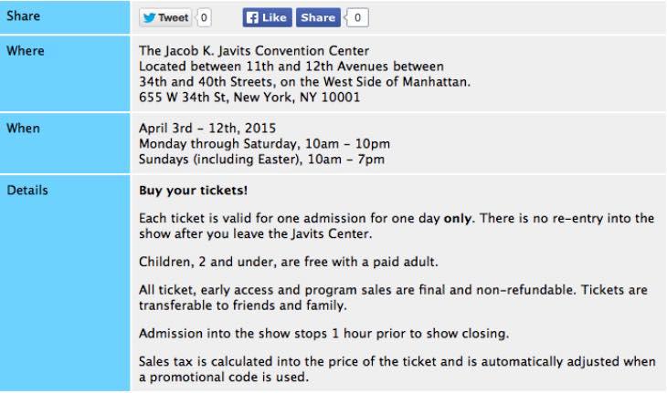 New York Auto Show 2015 dates