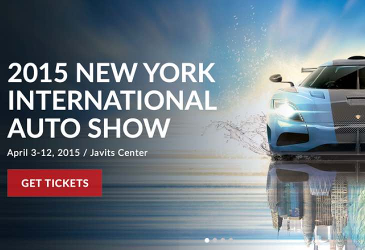 New York Auto Show Schedule of Events for 2015