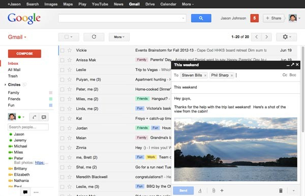 New compose mail feature in Gmail, a few months on