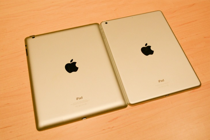 New iPad Air vs. iPad 4 for speed and weight