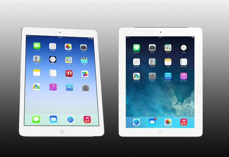 New iPad Air vs. iPad 4