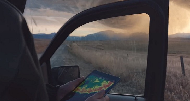 New iPad commercial and storm chasers