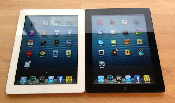 New iPad 4 vs. iPad 3 for speed and weight