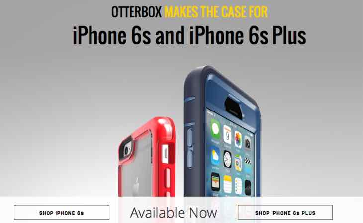 New iPhone 6s and Plus OtterBox cases