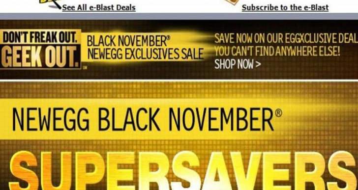 Newegg returns with Black November sale for 2014