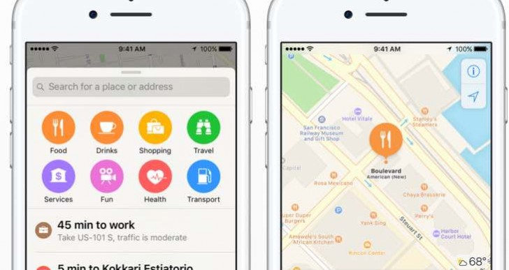 Next Apple Maps update needs place an order for food delivery
