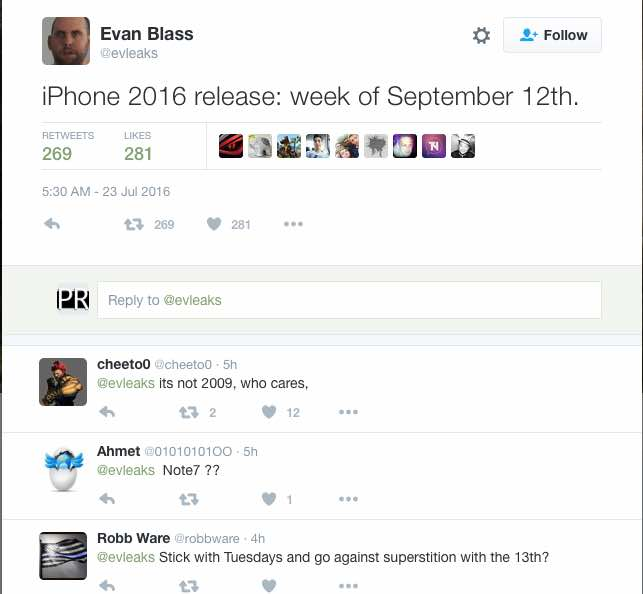 Next Apple event either Sept 13 or 14