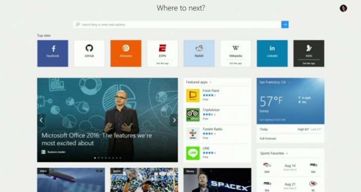 Next Windows 10 release update with Edge browser extensions