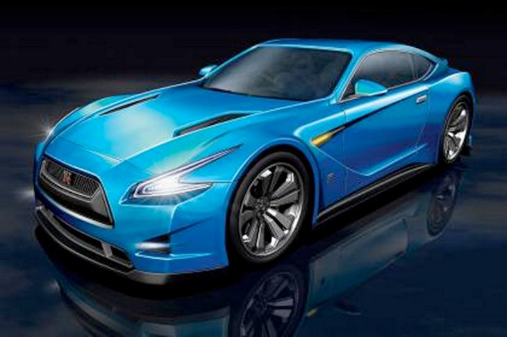 Next generation Nissan GT-R exterior and hybrid hypnotized