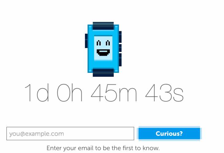 Next-generation pebble smartwatch countdown