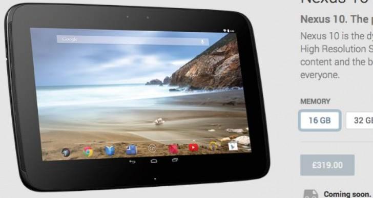 Nexus 10 availability updated, reinvigorates rumors