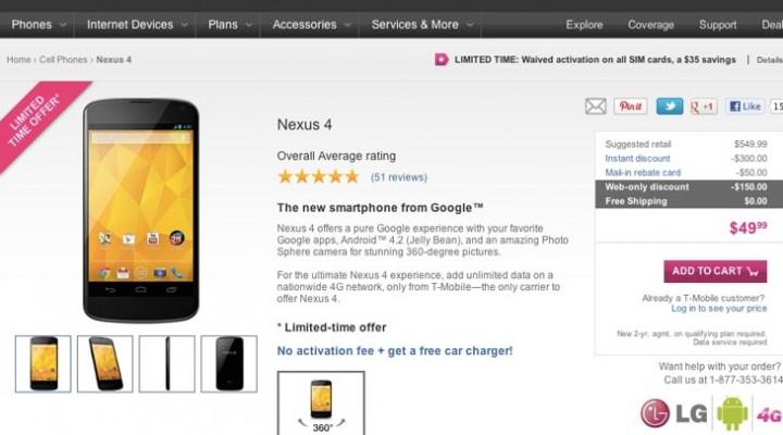 This Nexus 4 price drop is lowest yet