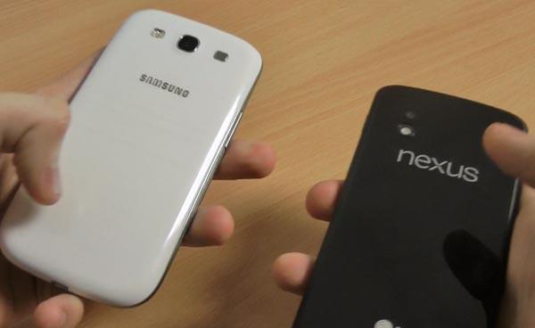 Nexus 4 vs. Galaxy S3 in visual review