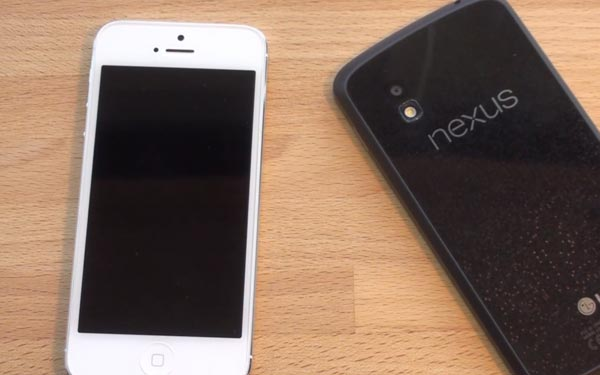 Nexus 4 vs. iPhone 5 in diverse review