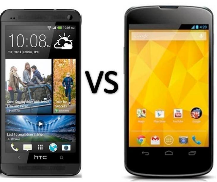 Nexus 4 vs. HTC One in performance