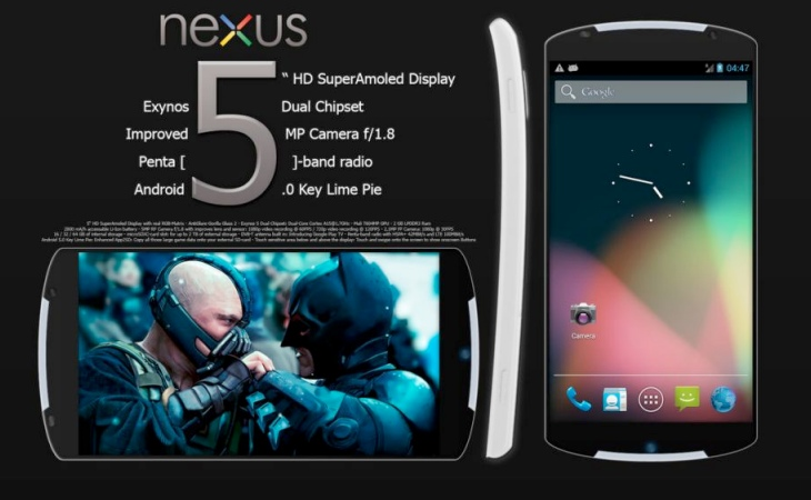 Another Nexus 5 concept, which we believe is far from the design of the actual model.