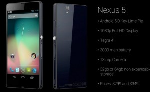 Nexus 5 specs and release through the grapevine