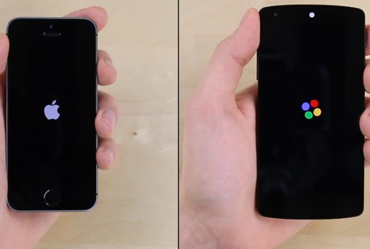 Nexus 5 vs. iPhone 5S for speediness