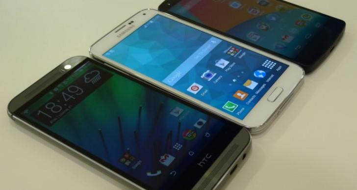 Nexus 5 vs. Galaxy S5, HTC One M8 visual showcase