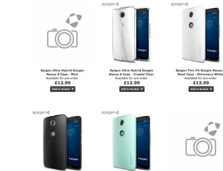 Nexus 6 cases by Spigen and Case-Mate