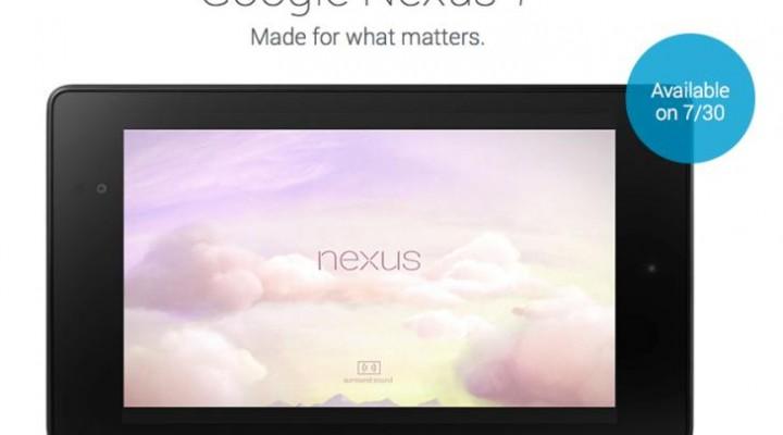 Nexus 7 2nd-generation release date
