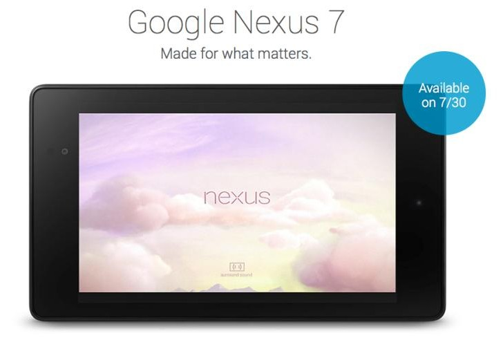 Nexus 7 2nd-generation release date