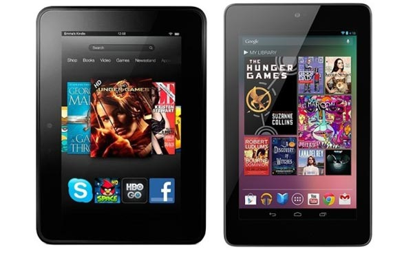 Nexus 7 vs. Kindle Fire HD for procrastinators this Christmas