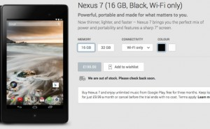 Nexus 8 speculated since Nexus 7 stock status