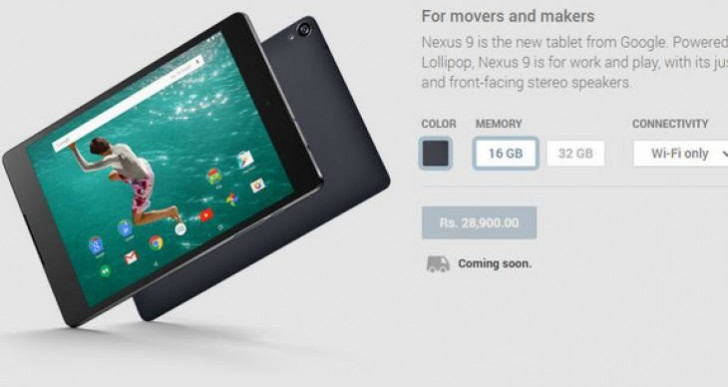 Nexus 9 price in India brings disappointment