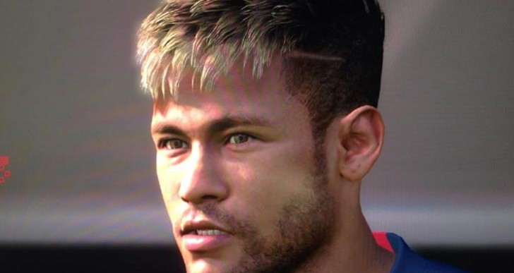 Neymar face from Santos FC to Barcelona in PES 2015