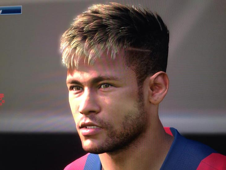 Neymar Hairstyles 2019: Neymar Face From Santos FC To Barcelona In PES 2015