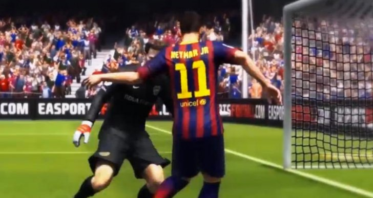 Neymar skills with clear fan support in FIFA 14