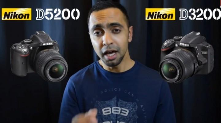 Nikon D3200 vs. D5200 specs and video review