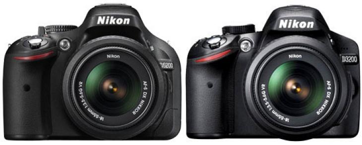 Nikon D3200 vs. D5200
