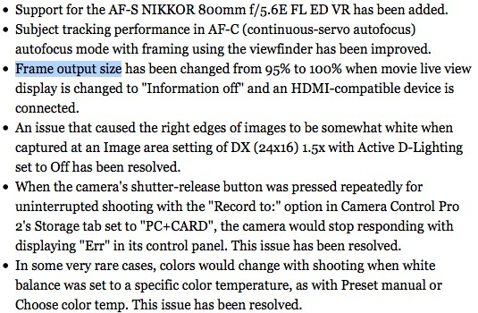 Nikon D600 firmware update