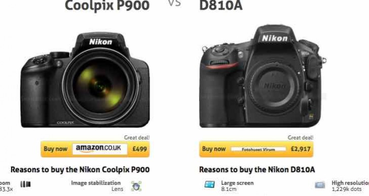 Nikon P900 Vs D810a advantages when price not a factor
