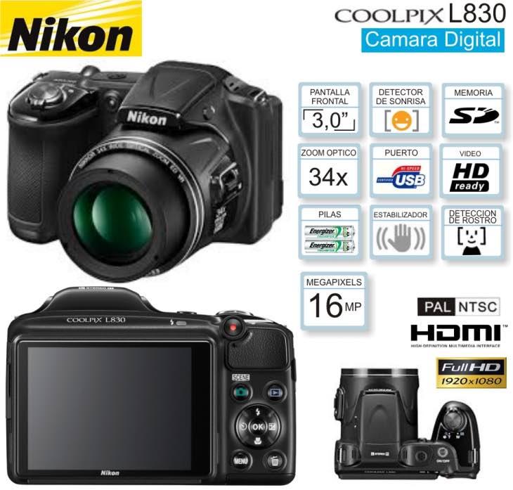 Nikon L830 features