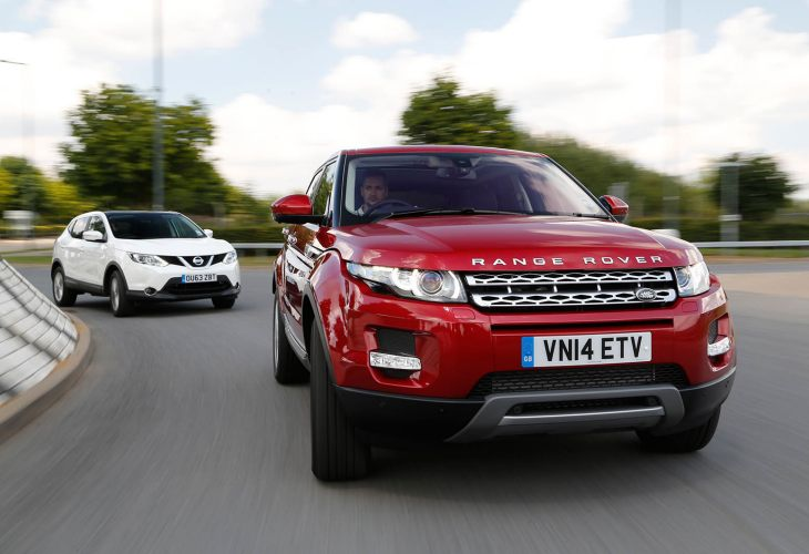 Nissan Qashqai vs. Range Rover Evoque running costs