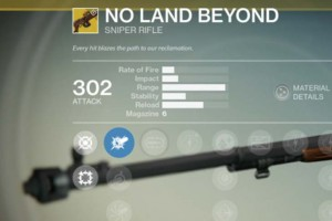 Destiny No Land Beyond exotic sniper rifle review