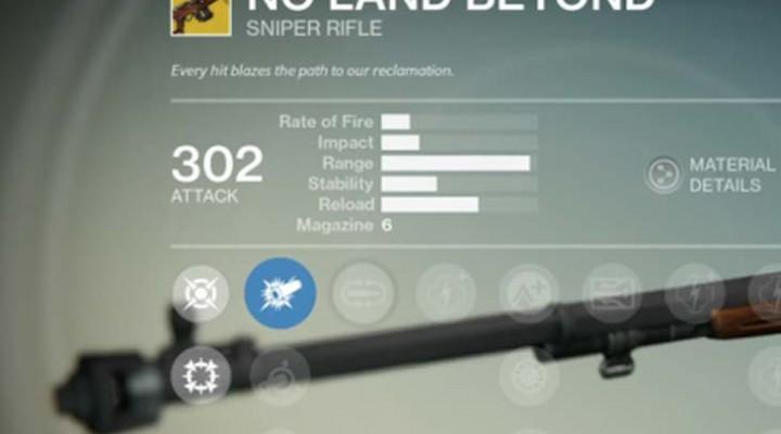 Destiny No Land Beyond exotic sniper rifle review