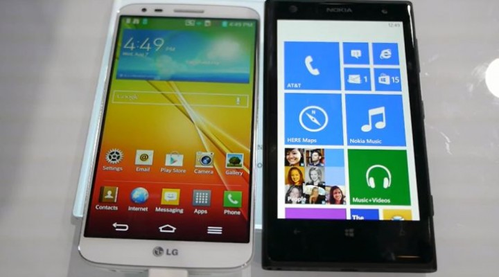 Nokia Lumia 1020 vs. LG G2 in quick visual
